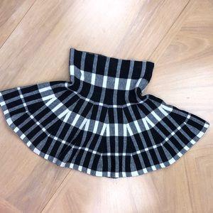 Forever 21 Checkered Plaid Mini Aline Circle Skirt